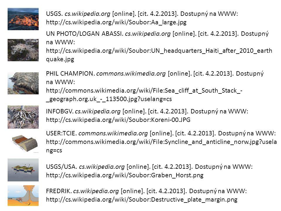 USGS. cs. wikipedia. org [online]. [cit. 4. 2. 2013]